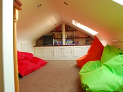Attic - interior design by Hannah Lordan